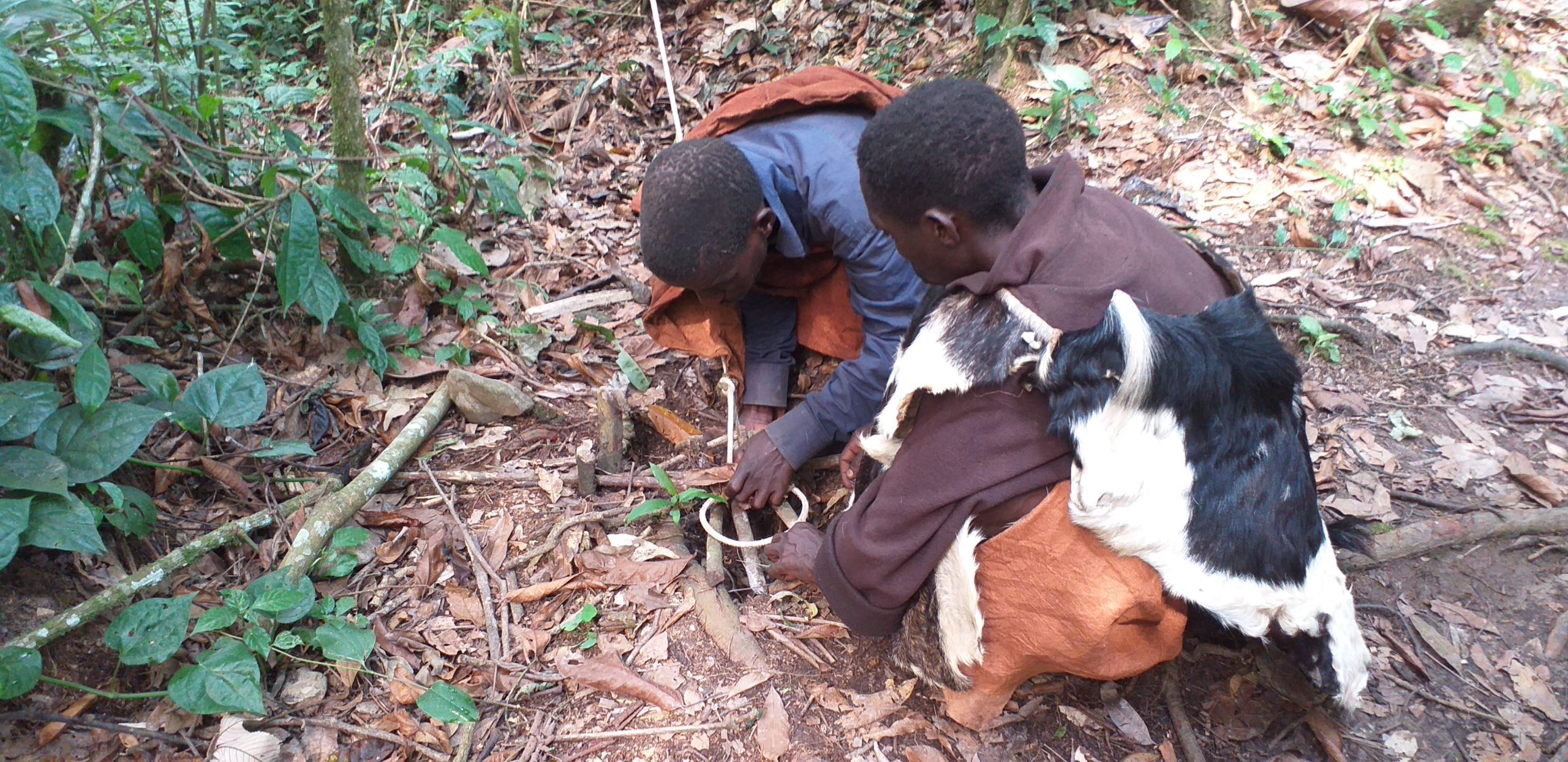 seen on our extraordinary Uganda safari Batwa Pygmies making fire