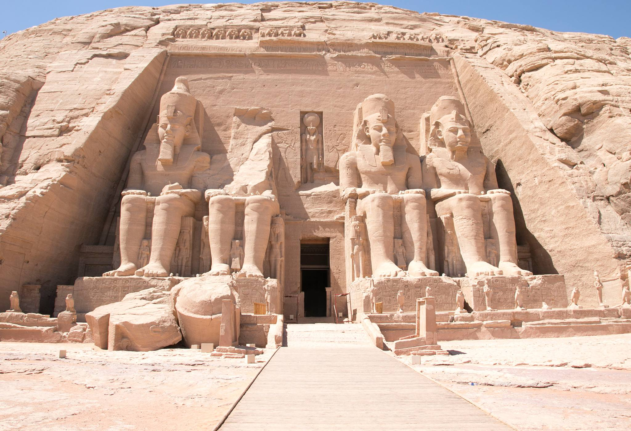 Abu Simbel Front on View