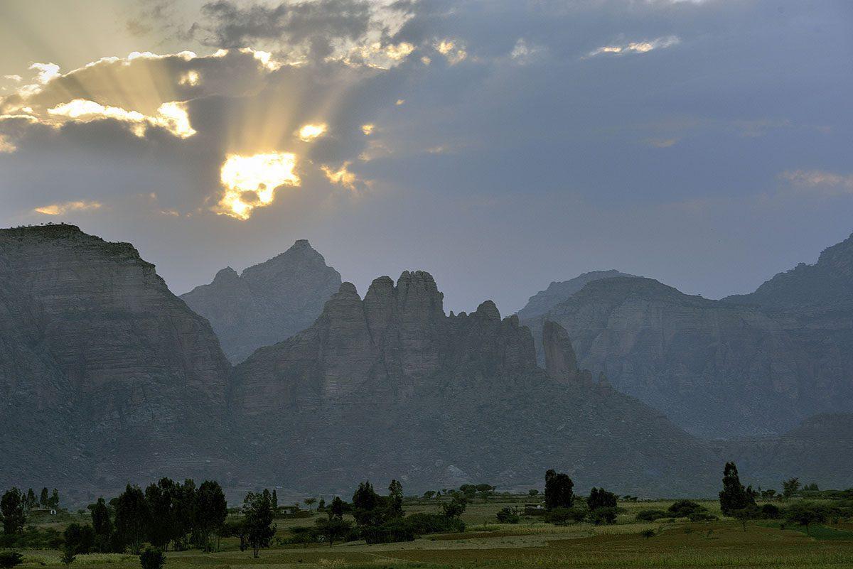 Bale Mountains at sunset seen on Ethiopia safari