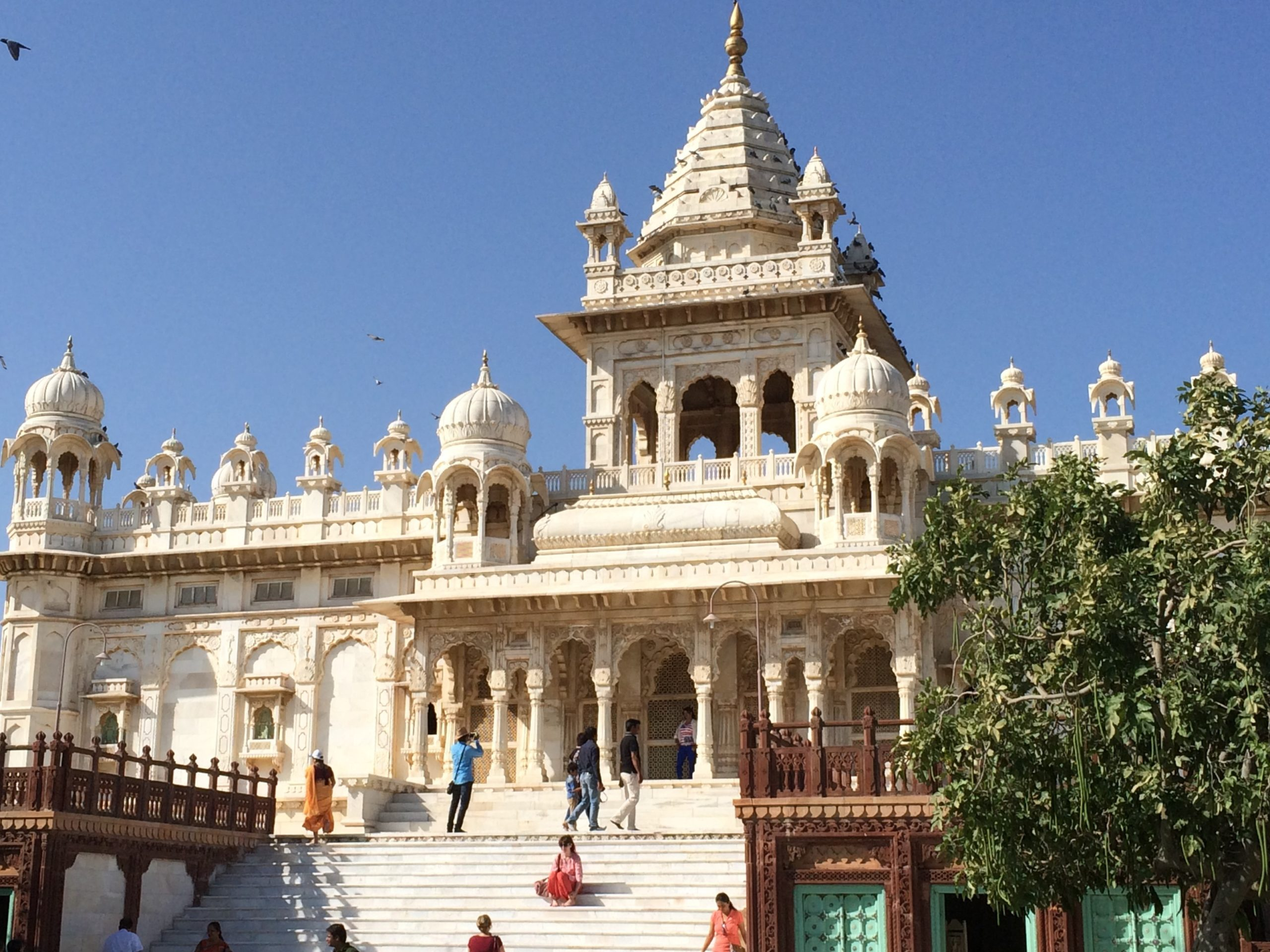 Jaswant Thada, a white marble crematorium of the early Maharajas