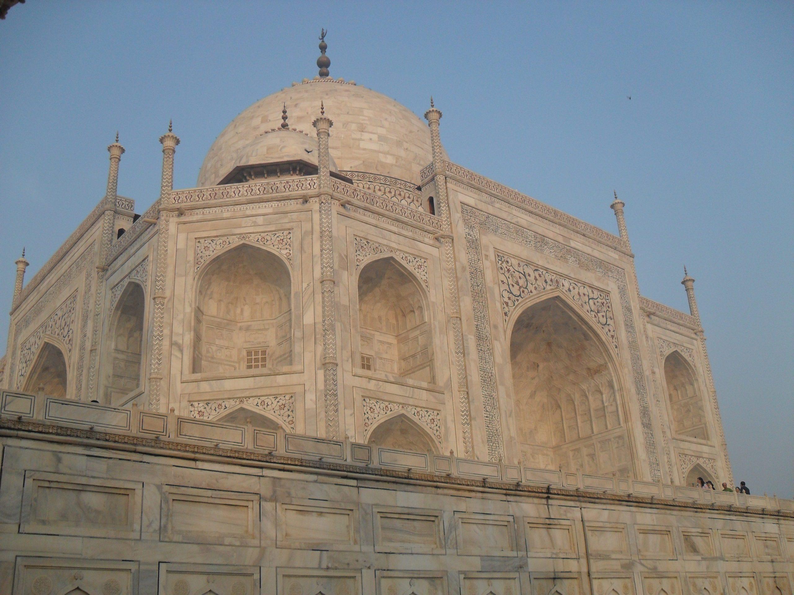 white marble of the Taj Mahal