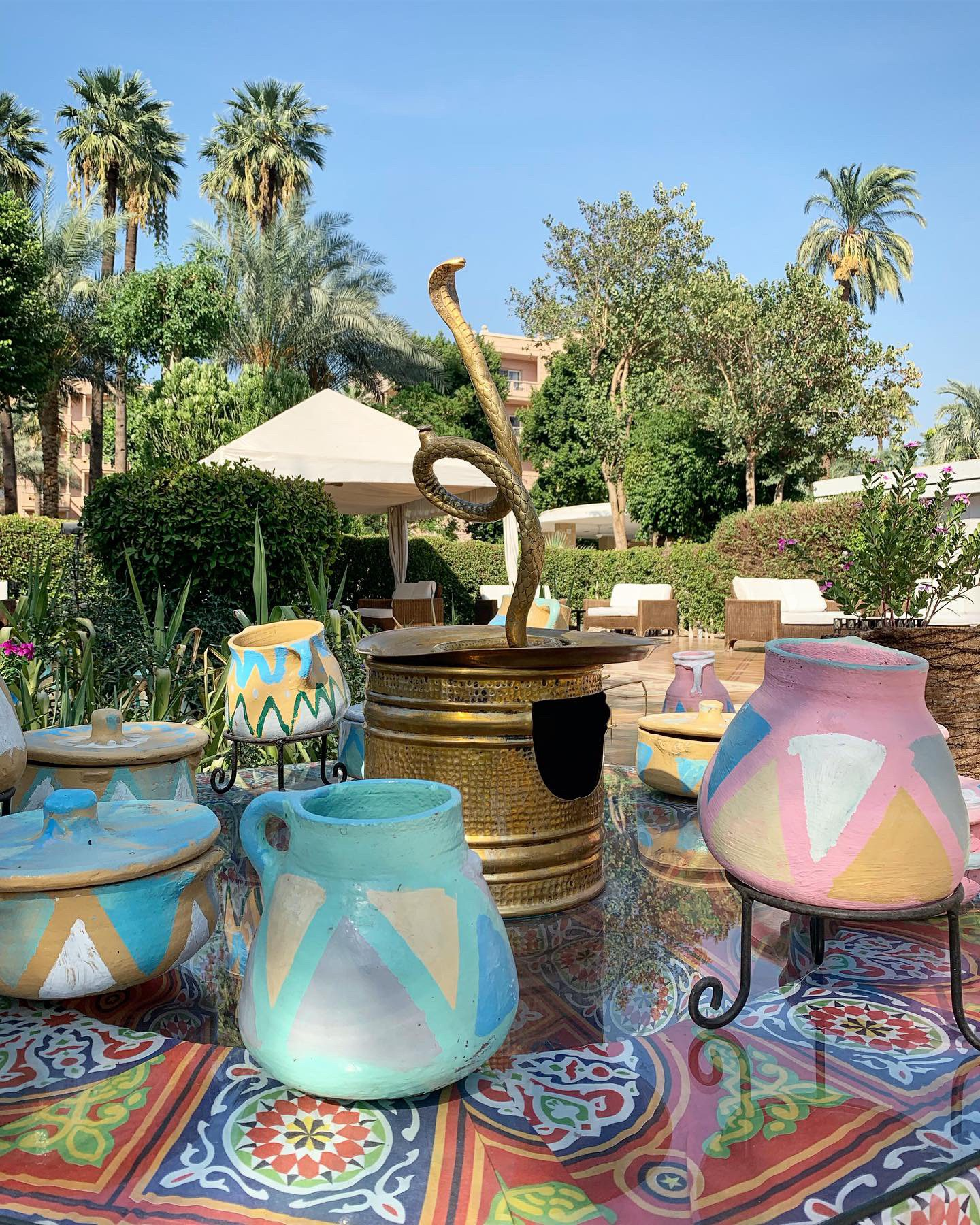 Local art and ceramics at Winter Palace Hotel Luxor