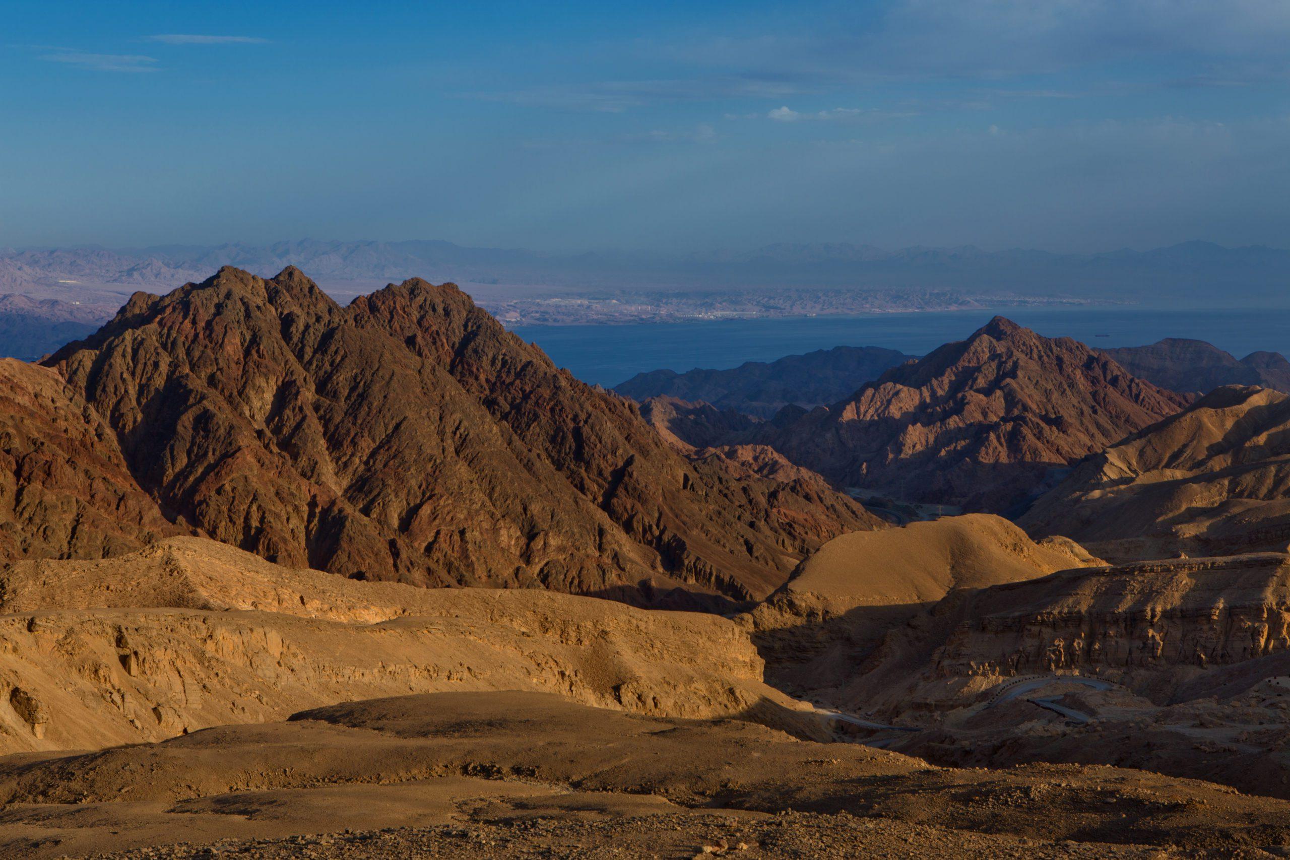 Negev Desert and mountains near Eilat