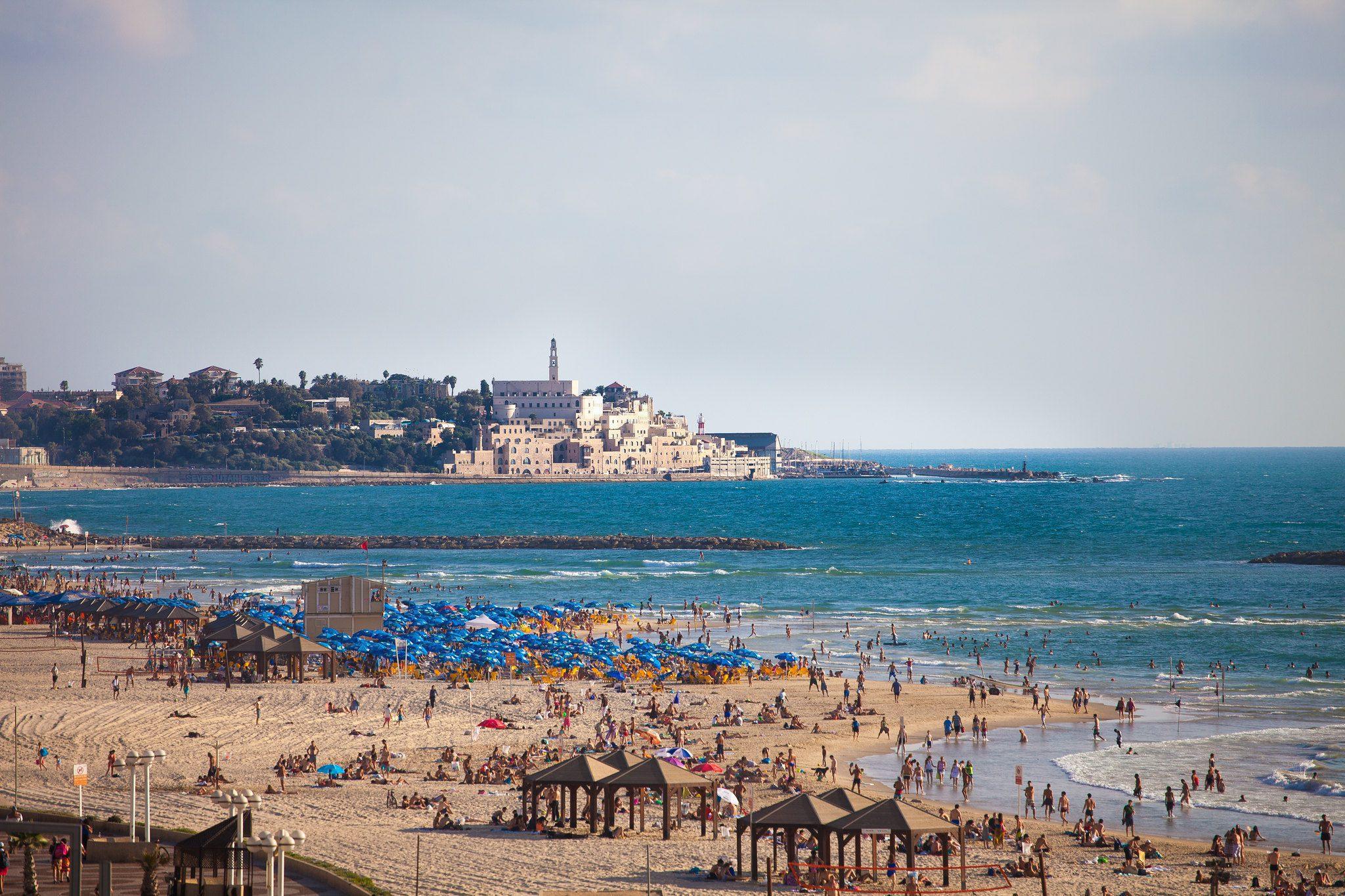 Tel Aviv beach and Jaffa beyond
