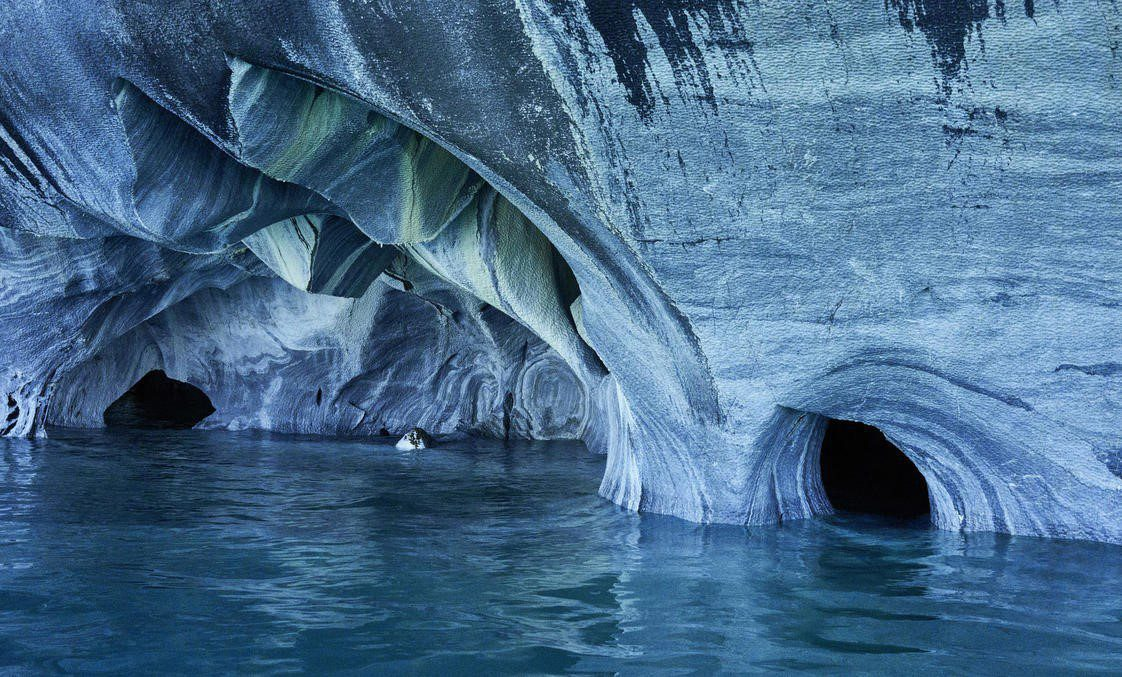 Marble caves in the Carretera Austral on this Chile tour