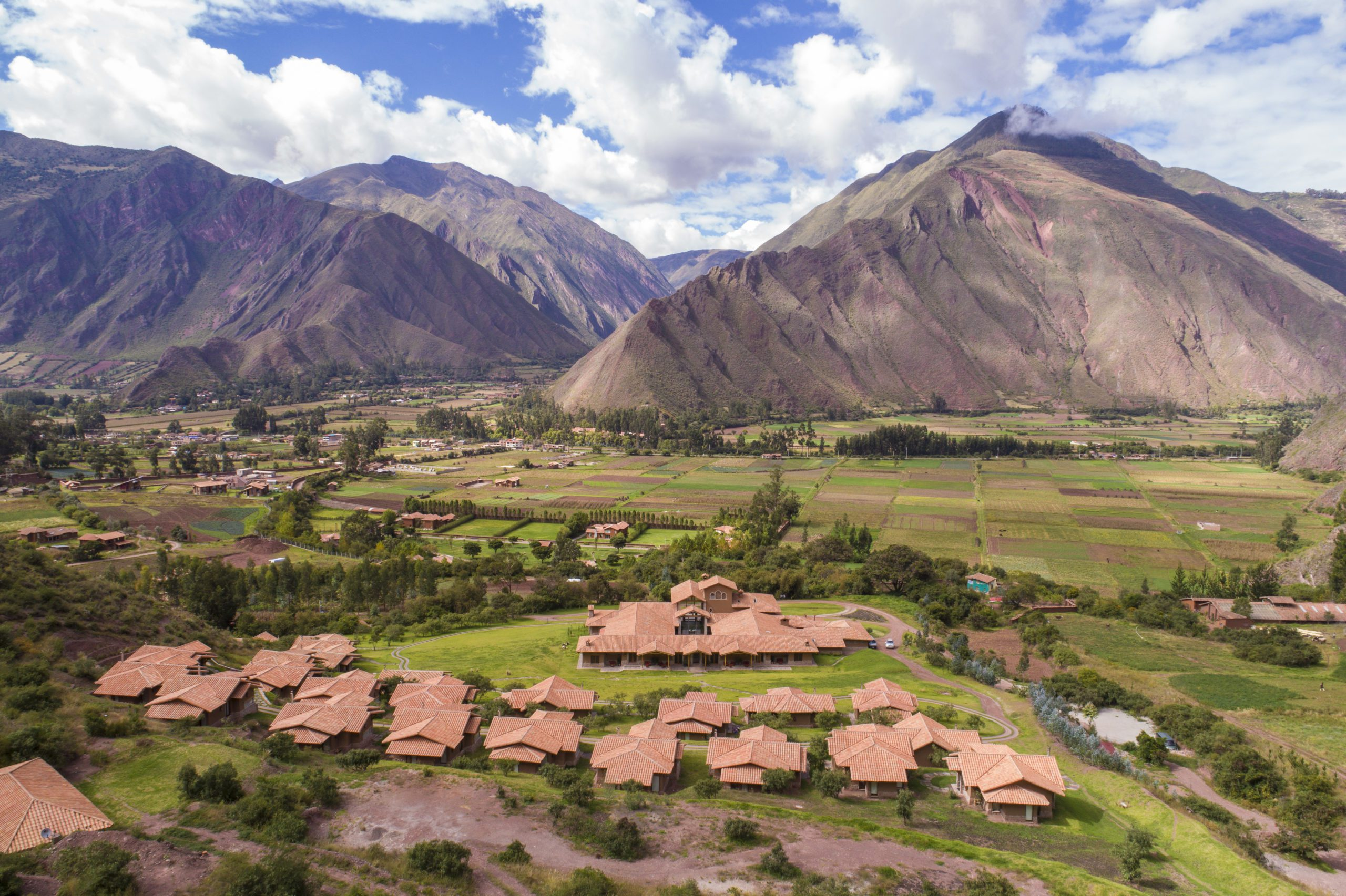 lodge rooms overlooking all of sacred valley and mountians