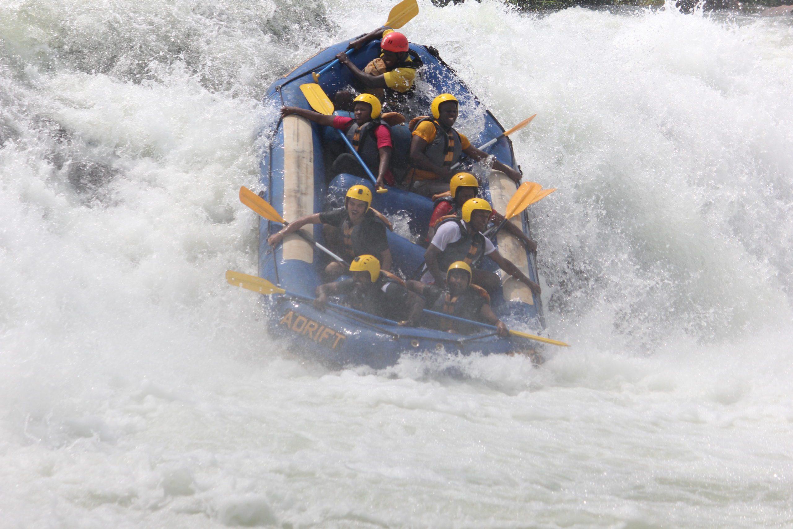 Whitewater rafting Nile