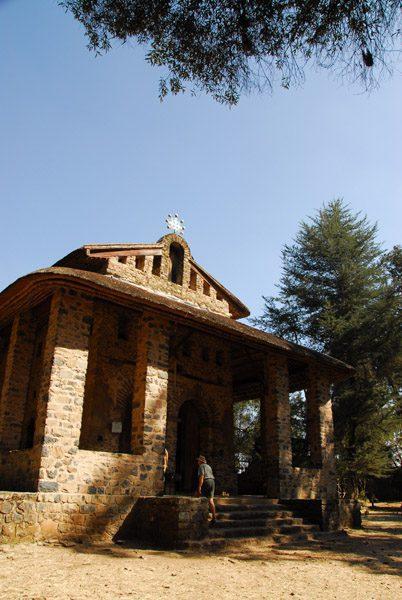 outside side view of Debre Birehan Sillasie in Gondar