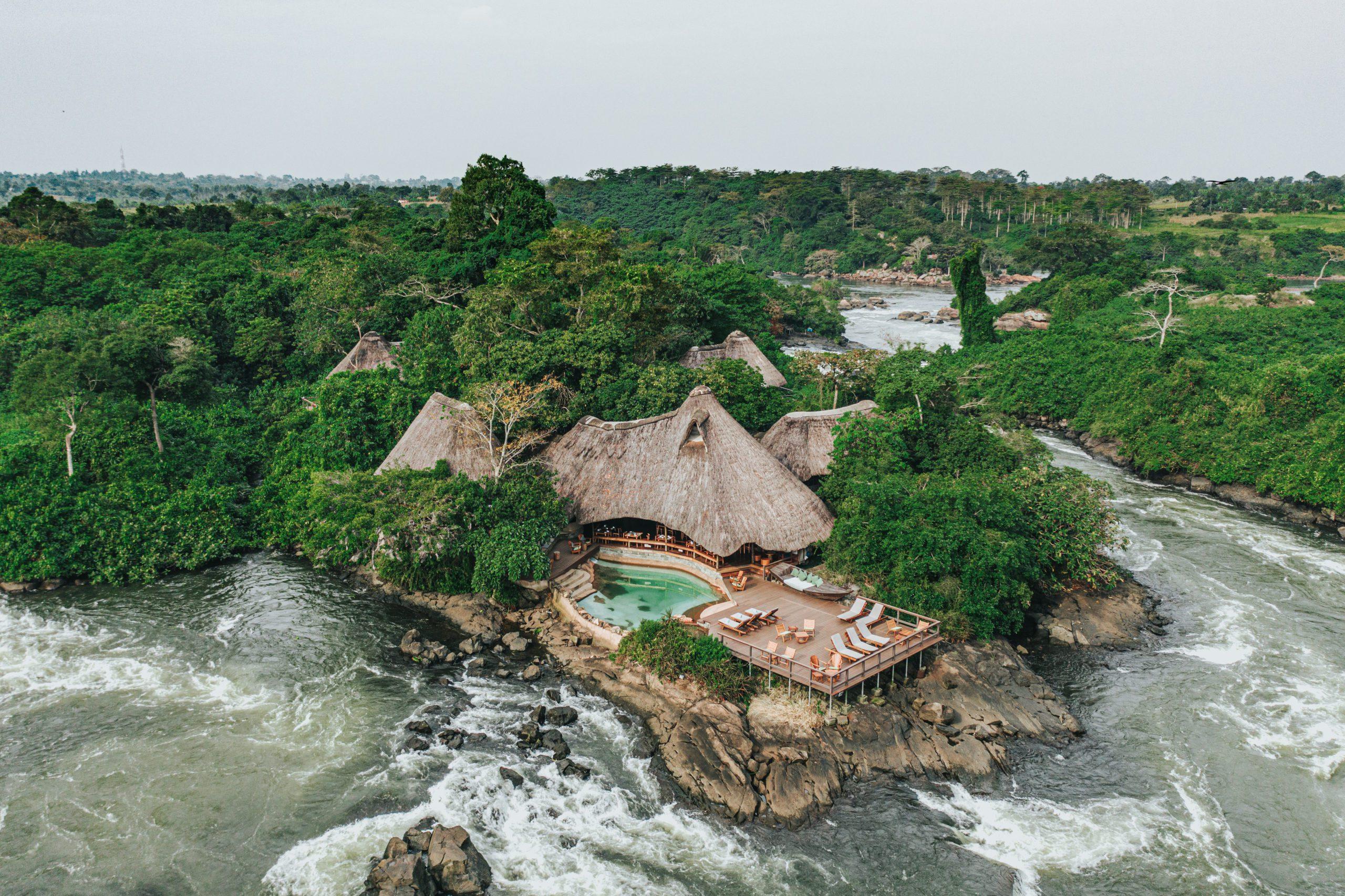 Lemala Wildwaters Lodge on our best Uganda safari