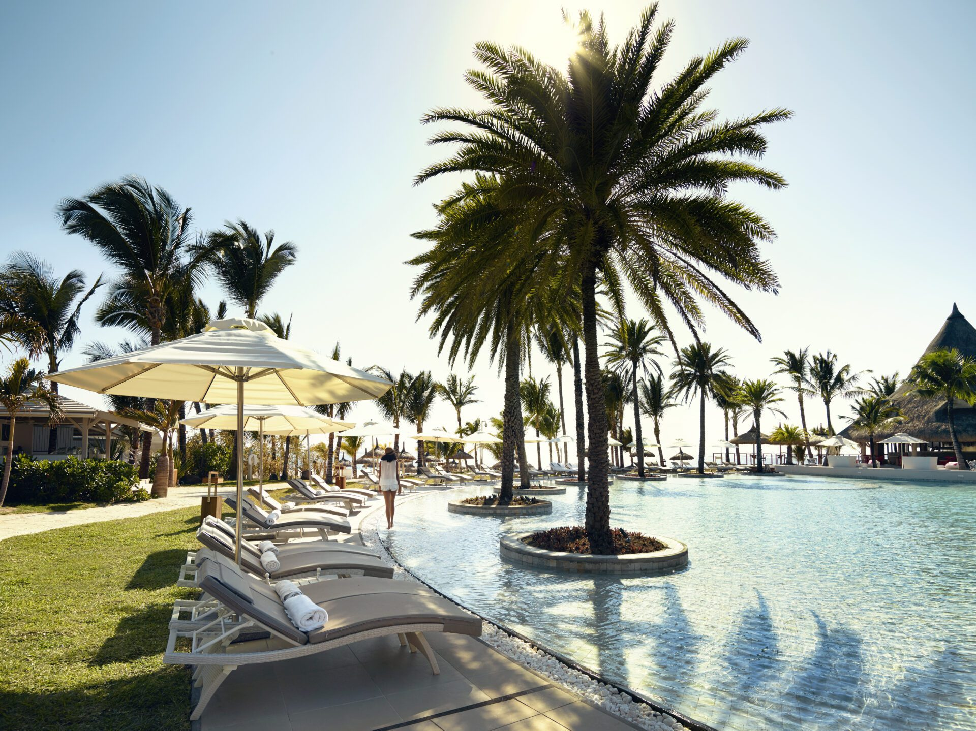 Lux Belle Mar pool and grounds in Mauritius