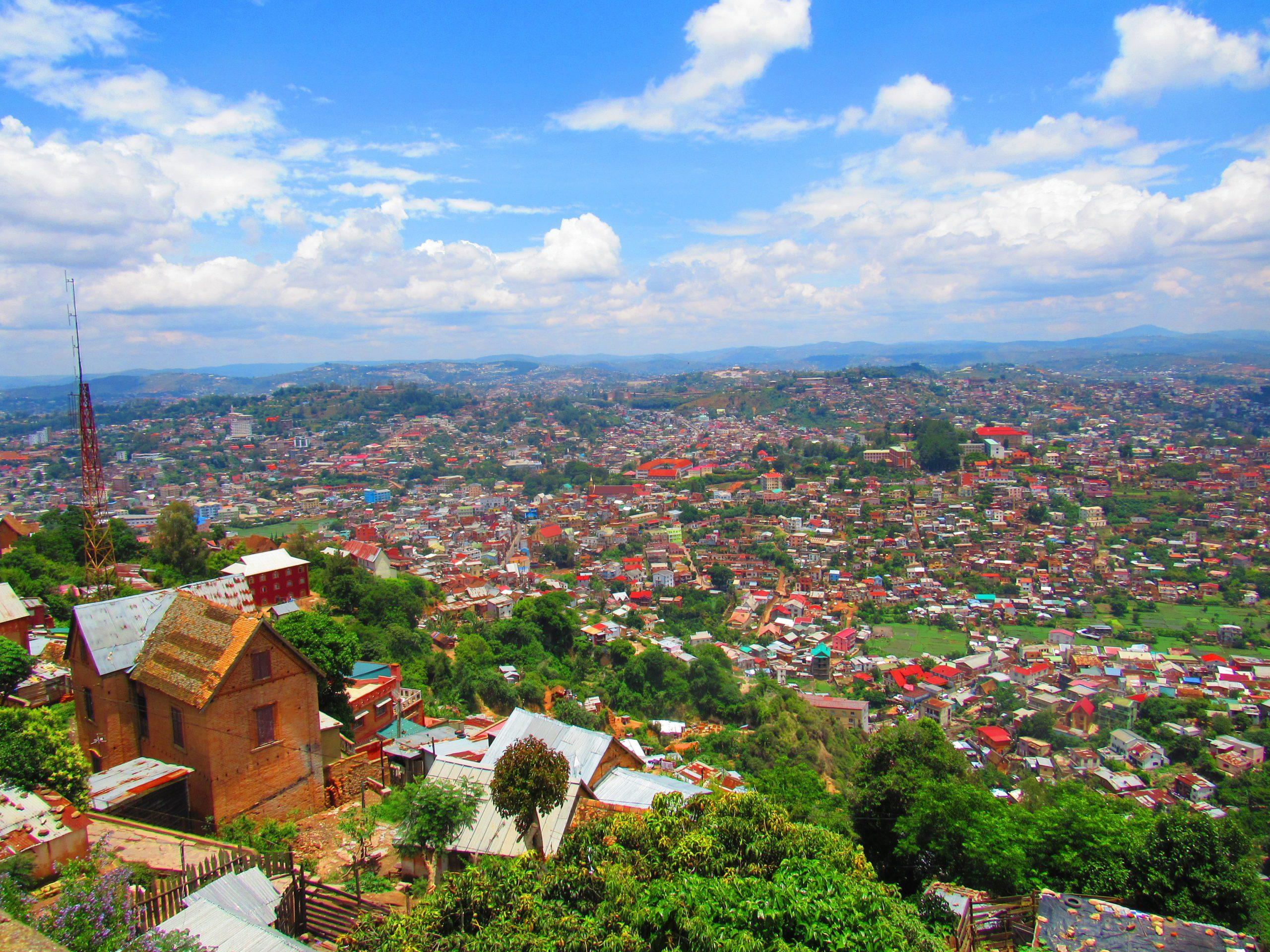 View over the city of Antananarivo on sunny day