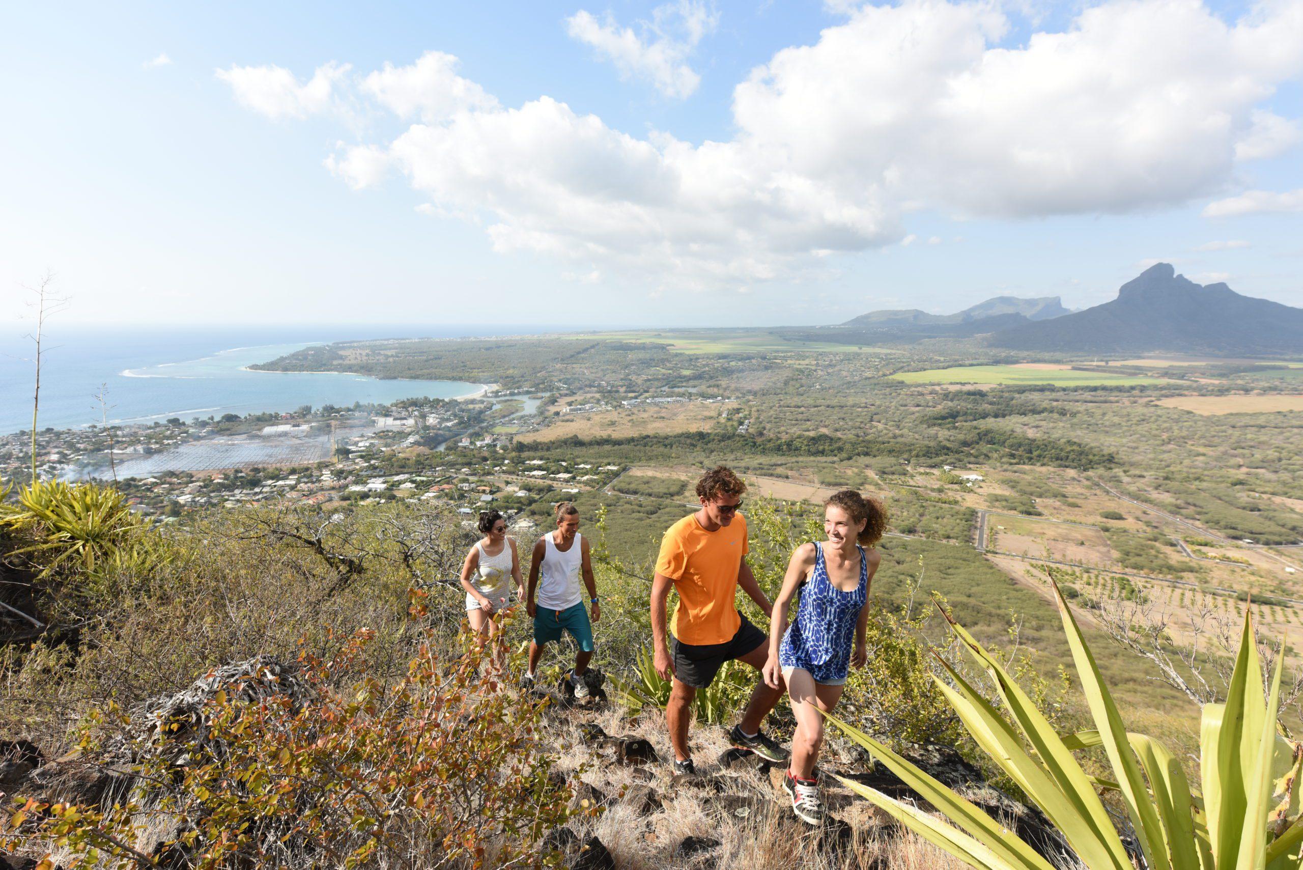Mauritius couples hiking