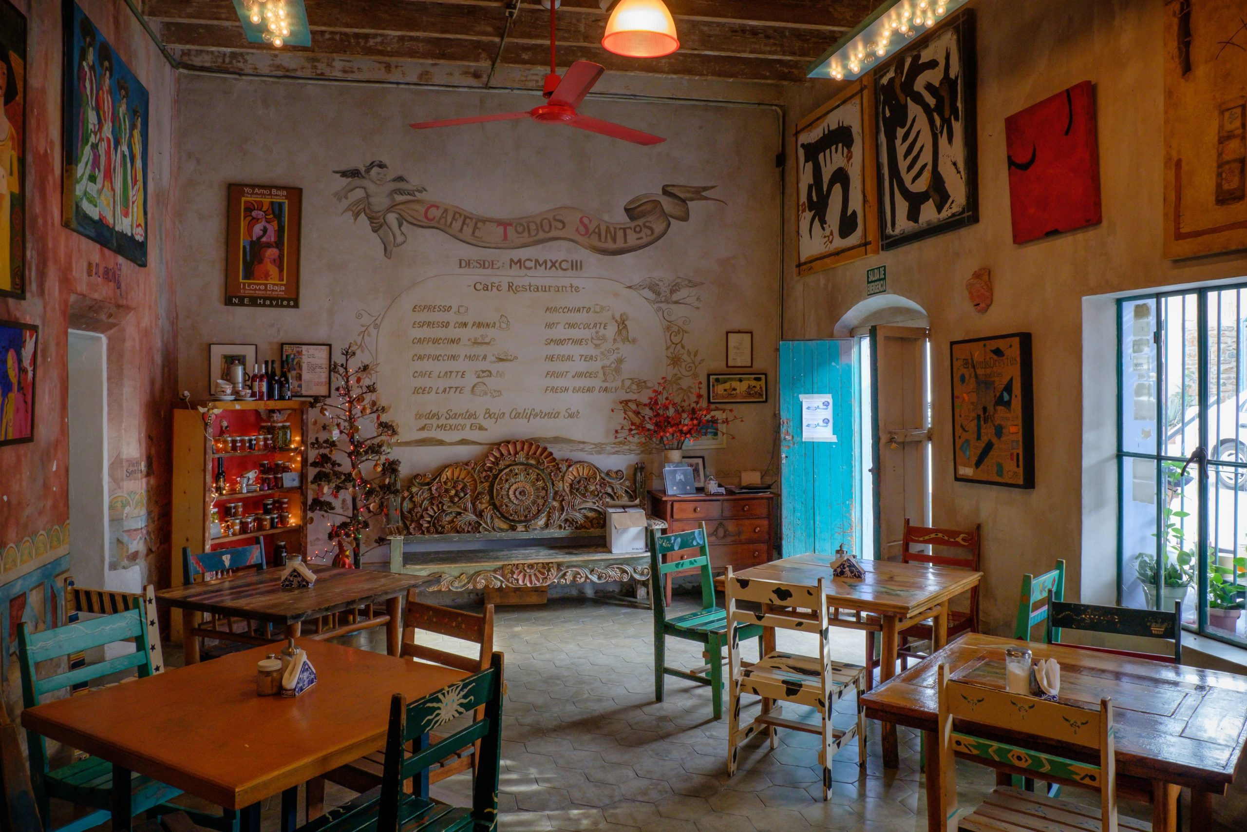 quaint mexican cafe interior