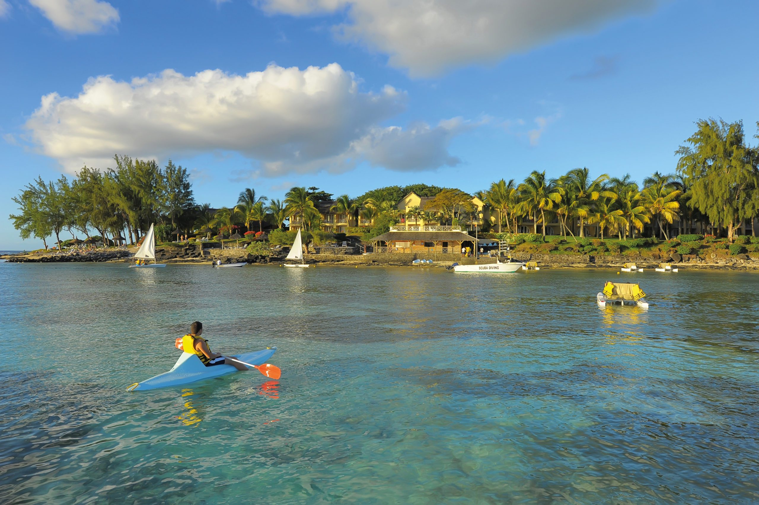 Mauritius kayaking safari water sports