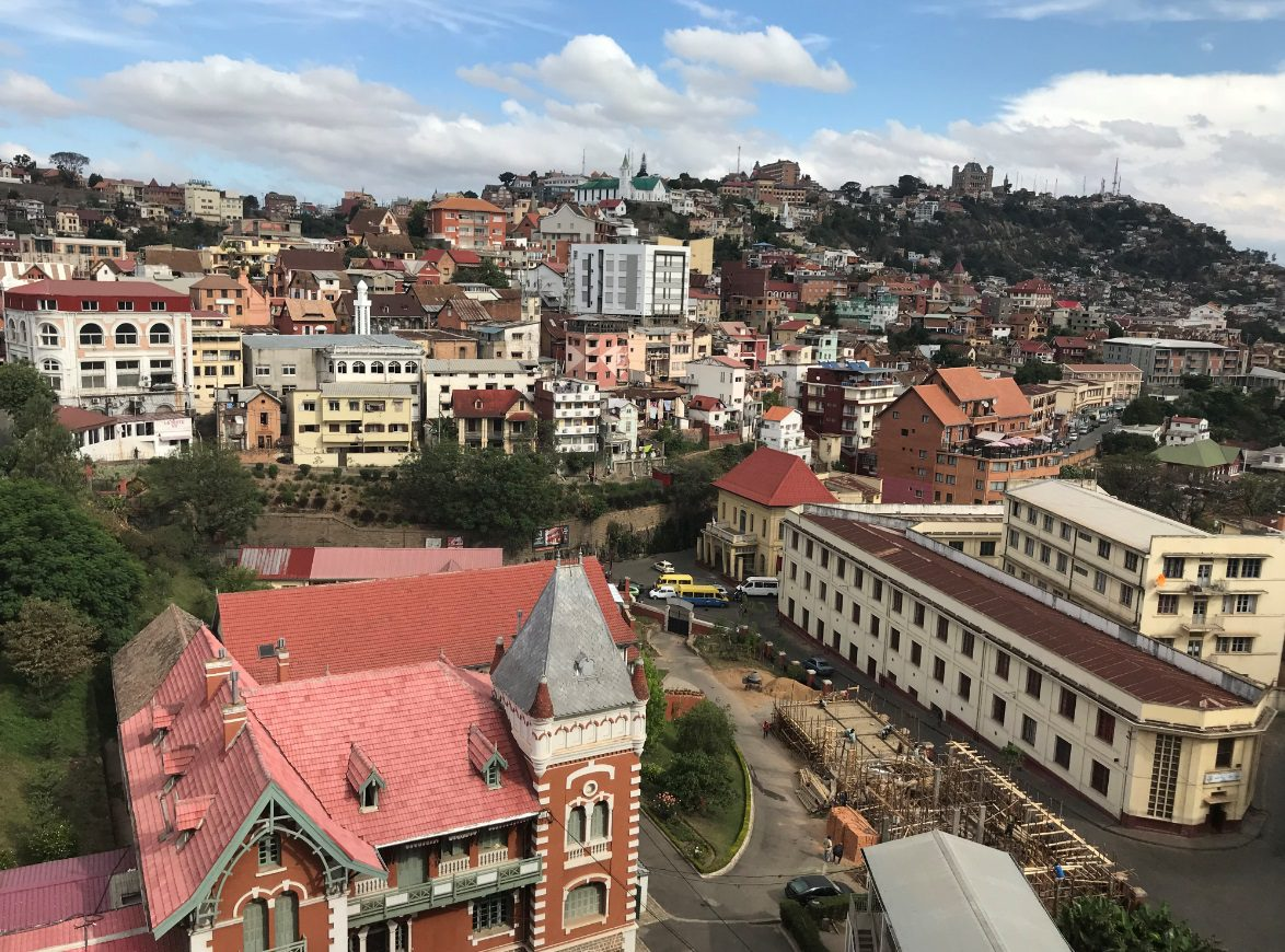Beautiful hilly city of Antananarivo