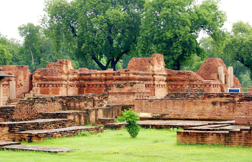 ruins of ancient buildings at Sarnath