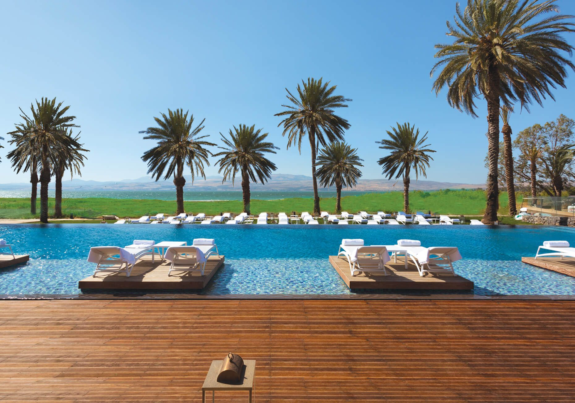 Setai Sea of Galilee Pool on Israel & Jordan holiday