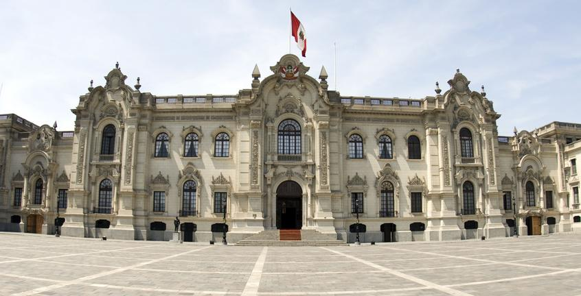 Government Building in Lima square seen on this Peru trip