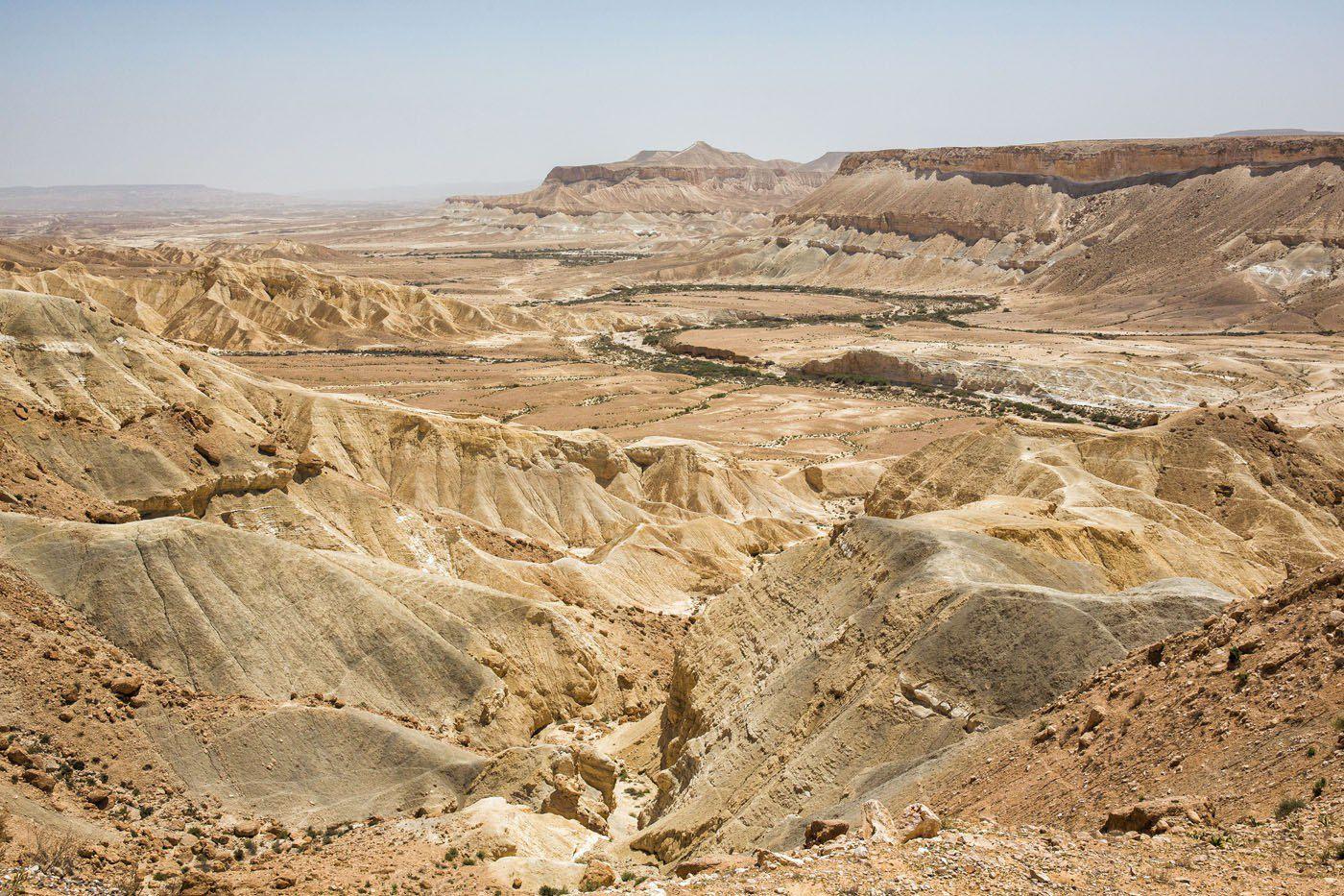 dirt hills in the negev desert, israel