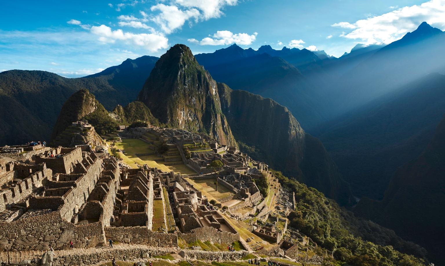 view of Machu Picchu on Peru holiday