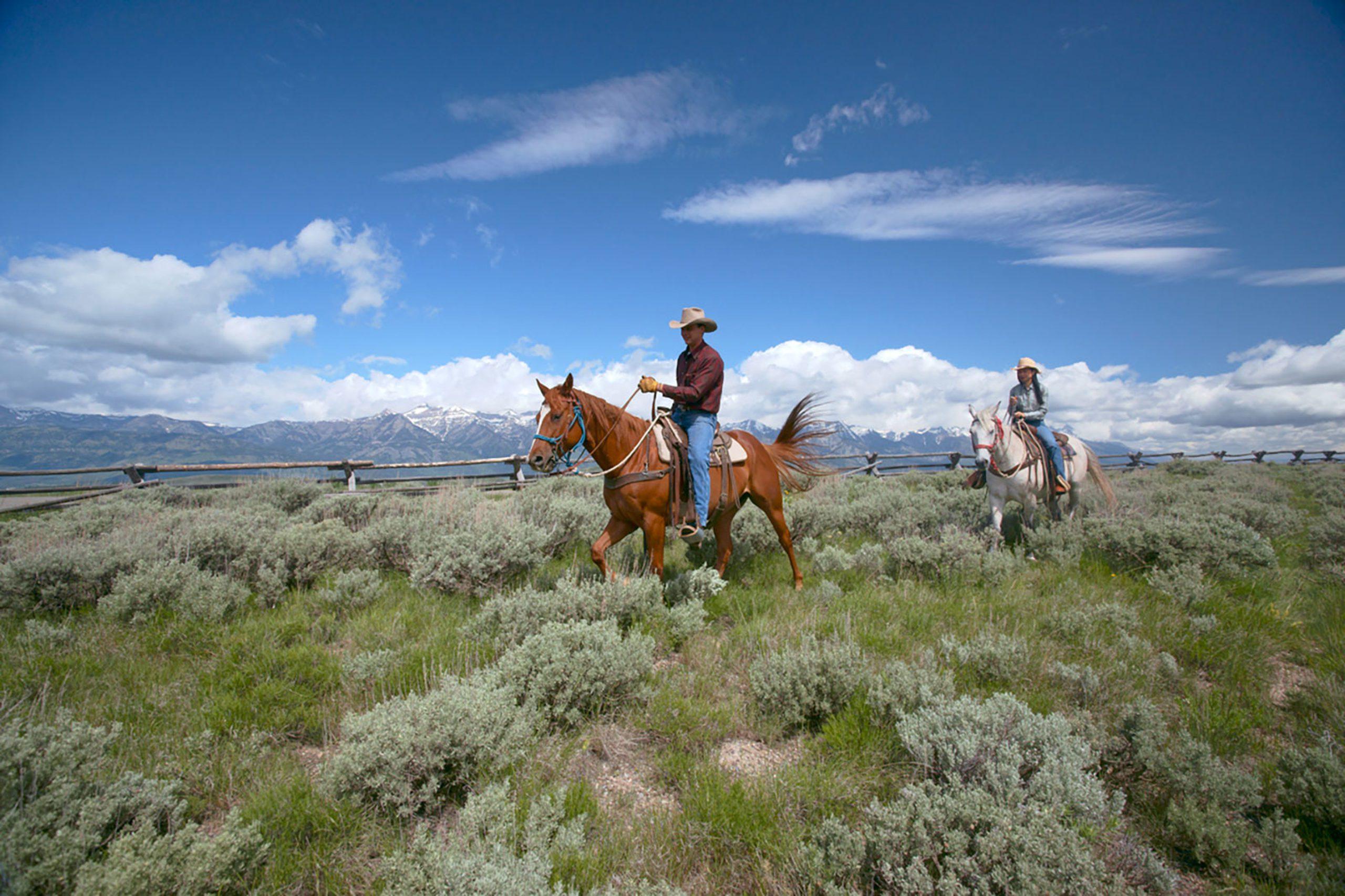 Amangani horseback riding