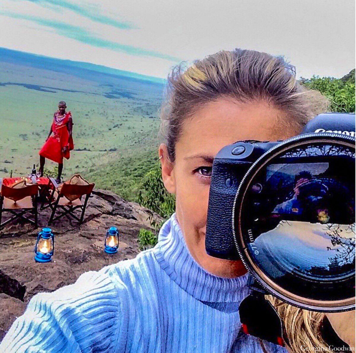 Georgina Goodwin with camera