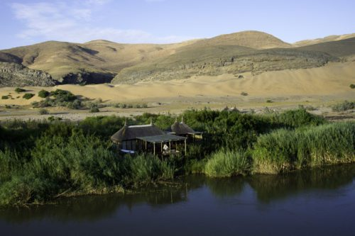 oasis at Serra Cafema on the Kunene River