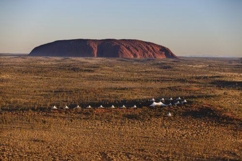Longitude 131 with Uluru in the background