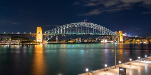 Sydney bridge by night