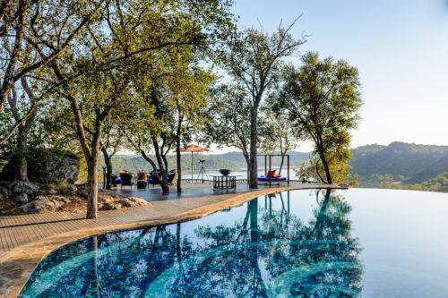 Singita Pamushana's pool with a view seen on our luxury Zimbabwe and Botswana safari