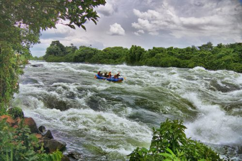 whitewater rafting safari on the Nile