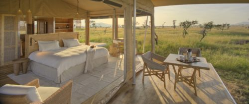 Finding the right permanent tented camp means more structures, bedding, and amenities on this Africa migration luxury safari