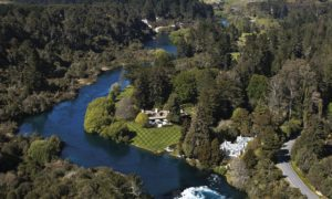 Huka Lodge New Zealand aerial view