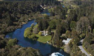 Huka Lodge New Zealand aerial view