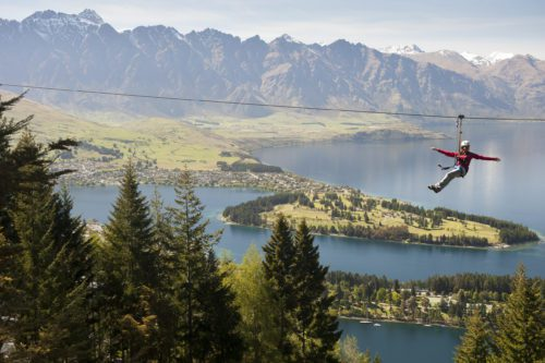 New Zealand Queenstown zip lining is one activity on your New Zealand road trip
