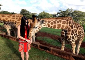 Brittany at Giraffe Manor