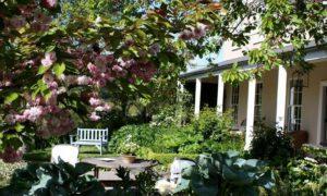 Vibrant gardens outside Edenhouse Luxury Lodge