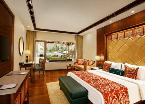 hotel room at Grand Dragon Hotel, Ladakh