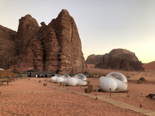 unique hotel features bubble pods in North Africa