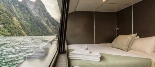 Interior of a suite on the Fiordland Discovery