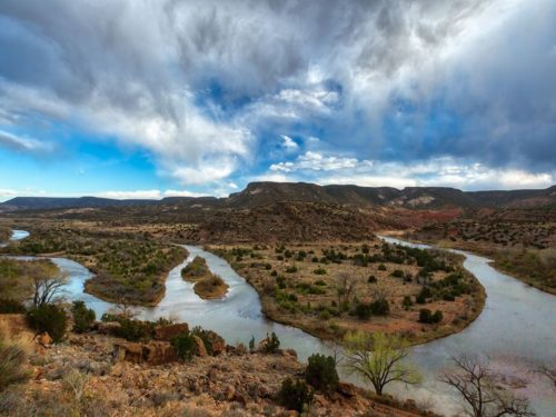 bending rio chama in New Mexico