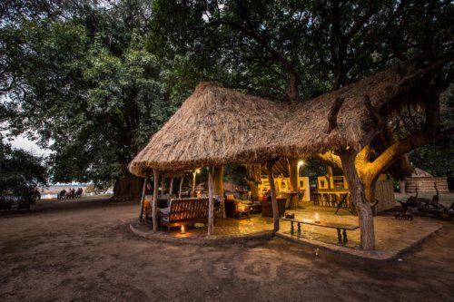 Main area of Tafika Camp on our Zambia on foot safari