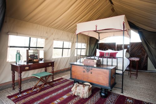 camp kalahari double guest tent on the best botswana safari