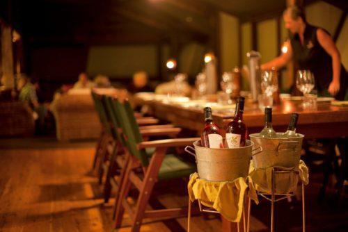 Dining set up at Bamurru Plains